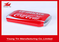 Rectangle Lip Smacker Logam Kosmetik Kaleng Didaur Ulang 150 x 85 x 30 MM Dengan Embossing