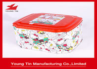 Cina Hello Kitty CMYK Printed Tin Boxes Container Gifts Kemasan Logam Tinplate Custom pabrik