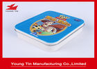 Eco - Friendly Square Metal Tins Dengan Engsel Pada Tutup Top, Metallic Tinplate Mints Tin Box