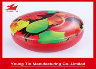 CMYK Putaran Printed Metal Tin Containers Seamless Dengan Fancy Tinplate Lids