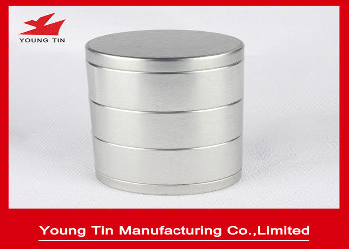 Blank Oval 3 layers Tea Packaging Tin Container Box Metal Tinplate Material