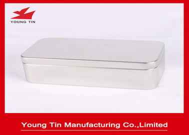 Plain Color Rectangle Kosong Logam Teh Kaleng, 0,23 MM Didaur Ulang Tinplate Container Box