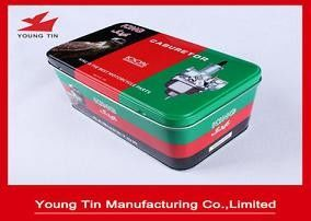 160 * 98 * 90mm Rectangle Printed Tin Boxes Dapat didaur ulang Tinplate Fancy Kustom
