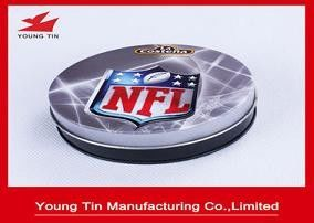 95 x 30 MM Printed Tin Boxes CMYK Offset Printing Outside, YT1014 Round Metal Tin Coaster Set